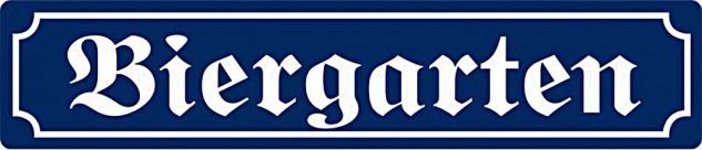 Strassennamenschild - Biergarten XXL Blechschild