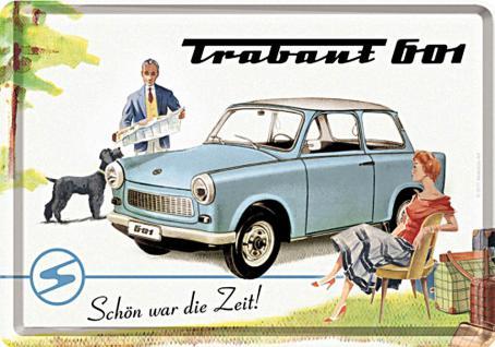 Blechpostkarte Trabant Schön war die Zeit