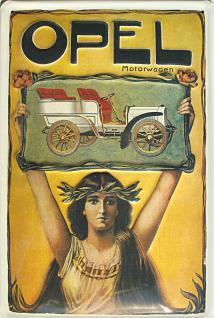 Opel Motorwagen Blechschild