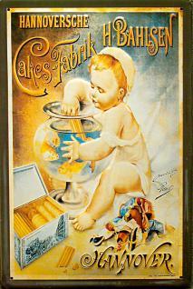 Hannoversche Cakes Fabrik Bahlsen Aquarium Blechschild