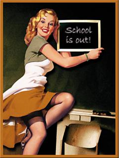 Magnet Pin Up Girl School is out - Vorschau