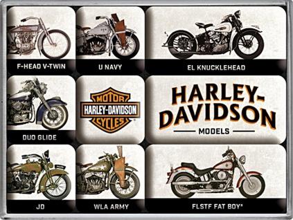 Magnet-Set Harley-Davidson - Model Chart