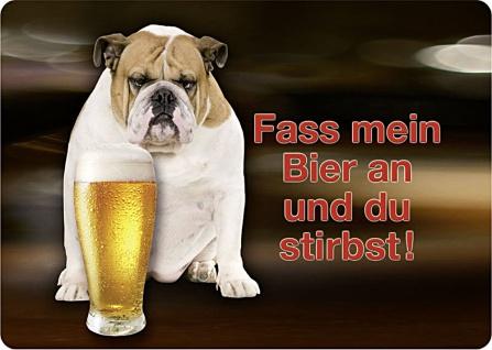 Blechpostkarte Fass mein Bier an?