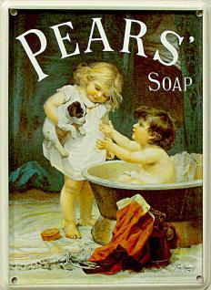 Pears Soap Mini Blechschild - Vorschau