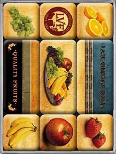 Magnet-Set Late Vintage Fruits