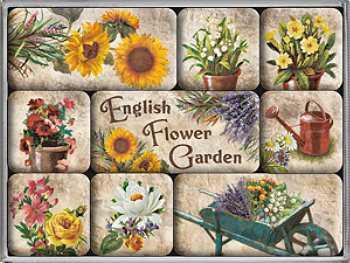 Magnet-Set English Flower Garden