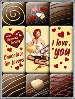Magnet-Set I Love You Chocolate