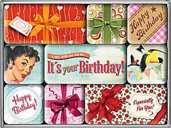 Magnet-Set Happy Birthday