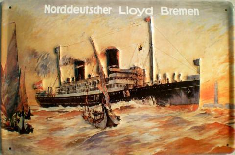 Norddeutscher Lloyd Bremen - Sturm Blechschild