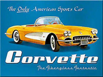 Magnet Corvette yellow