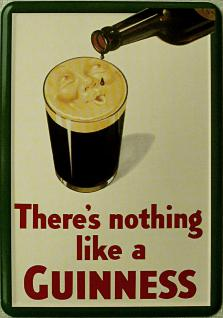 Blechpostkarte Guinness There's nothing like