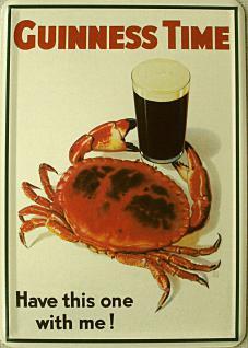 Blechpostkarte Guinness Krabbe - Vorschau