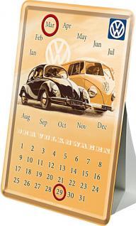 Blechpostkarte VW Kalender - Vorschau
