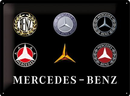 Mercedes-Benz - Logo Evolution Blechschild