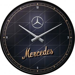 Mercedes-Benz - Silver & Gold Wanduhr