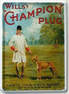 Will's Champion Plug Mini-Blechschild