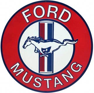 Ford - Mustang, rund Blechschild