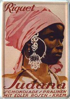 Blechpostkarte Riquet Sudana