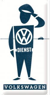 VW - VW Dienst Mann Blechschild