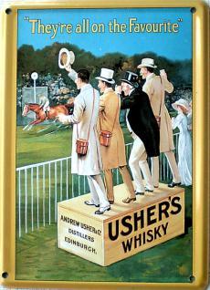 Usher's Whisky Mini Blechschild - Vorschau