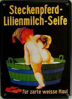 Steckenpferd-Lilienmilch-Seife Mini Blechschild - Vorschau