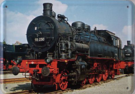 Blechpostkarte Lokomotive 93230 - Vorschau
