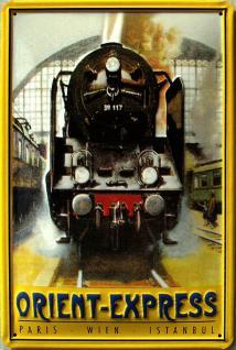 Orient-Express Paris, Wien, Istanbul Blechschild