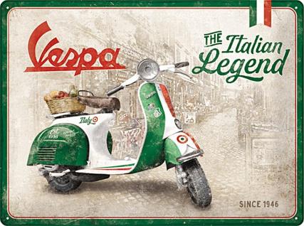 Vespa - Italian Legend Blechschild