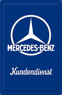 Mercedes-Benz - Kundendienst Blechschild