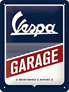 Vespa - Garage Blechschild