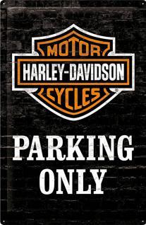 Harley-Davidson - Parking Only Blechschild