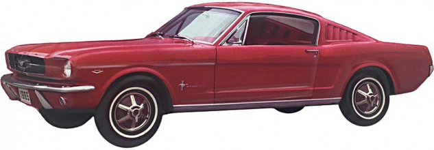 Ford - Mustang rot, alt Blechschild
