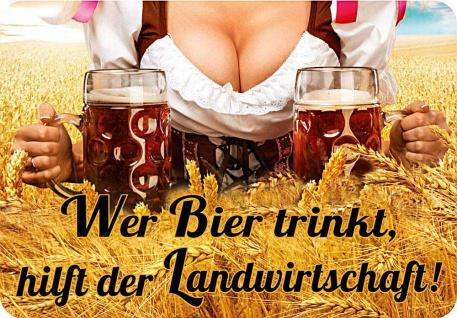 Kult-Hänger Wer Bier trinkt hilft der Landwirtschaft
