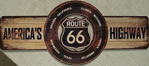 Route 66 Blechschild