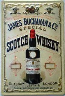 James Buchanan Scotch Whisky Blechschild