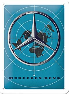 Mercedes-Benz - Blue Map Blechschild