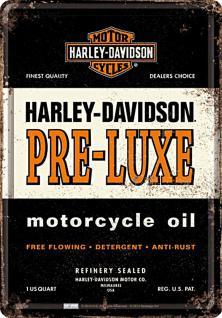 Blechpostkarte Harley-Davidson - PRE-LUXE