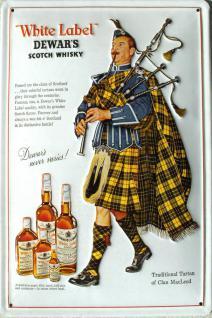 Dewars Whisky Dudelsack Blechschild - Vorschau