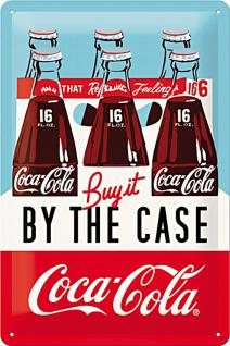 Coca-Cola - By the case Blechschild