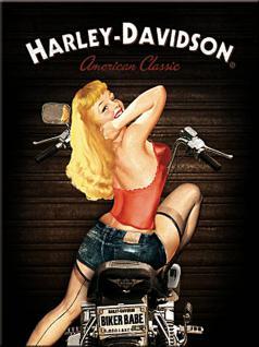 Magnet Harley Davidson - Biker Babe