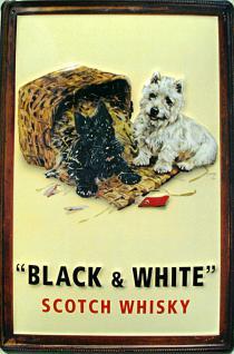 Black & White Whisky Blechschild