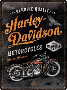 Harley-Davidson - Timeless Tradition Blechschild