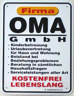 Funschild Firma Oma GmbH - Vorschau