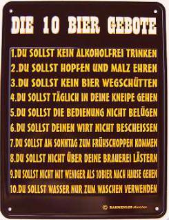 Funschild Die 10 Bier Gebote