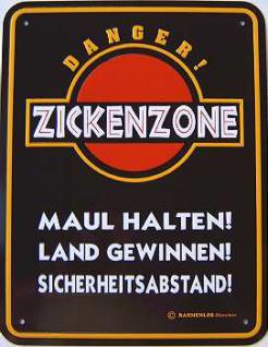 Funschild Zickenzone - Vorschau