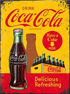 Magnet Coca-Cola - In bottles yellow
