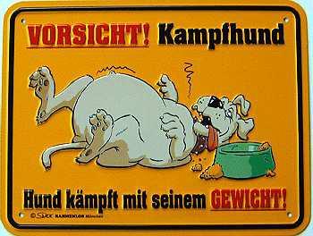 Funschild Vorsicht! Kampfhund - Vorschau