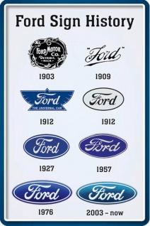 Ford -Sign History Blechschild