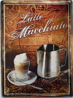 Latte Macchiato Blechschild - Vorschau