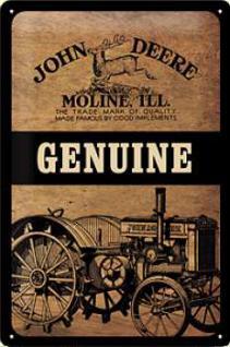 John Deere Genuine Blechschild - Vorschau
